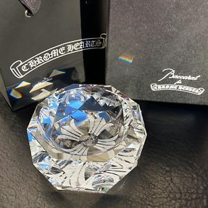 New Chrome Hearts x Baccarat Crystal Ashtray + Box & Gift Bag