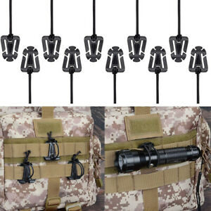 Tactical Gear Clip Molle Web Dominators Backpack Straps Management Carabiners