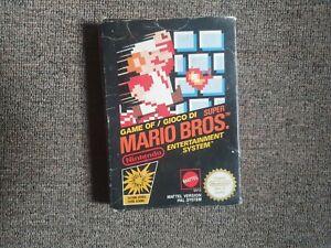 SUPER MARIO BROS. Game Cartridge With Original Box, Sleeve and manual