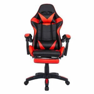 Gaming Chair Office Executive Computer Chairs Racing Footrest Racer