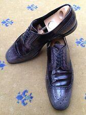 Prada Mens Black Leather Lace Up Shoes UK 10 US 11 EU 44 Shaded