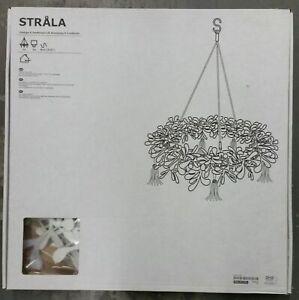 IKEA Strala Pendant Lamp WHITE Red STRÅLA Garland Wreath Ring LED XMAS Christmas