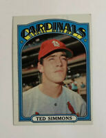1972 Topps Ted Simmons # 154 Baseball Card St. Louis Cardinals HOF