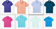 LACOSTE Men Classic Fit Short Sleeves Solid Polo Shirt NEW NWT