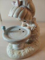 """A Reflection Of His Love"" Precious Moments Figurines Religious Bird Bath No Box"