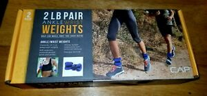 CAP Weight Training Ankle/Wrist Weights 2lb Pair Blue *New In Box*