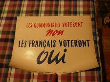 belle affiche referendum 1958 :contre le communisme