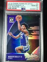 2018 Panini Donruss OPTIC Marvin Bagley III RC The Rookies HOLO PRIZM PSA 10 Gem