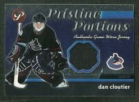 DAN CLOUT 03-04 TOPPS PRISTINE PORTIONS GAME WORN JERSEY VANCOUVER CANUCKS