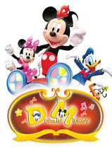 POSTER A4 PLASTIFIE-LAMINATED(1 FREE/1 GRATUIT)*DISNEY MICKEY MOOSE & CO.MINNIE.