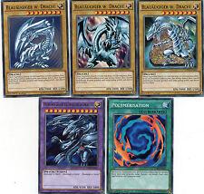 Yu-Gi-Oh! >Blauäugiger w. Drache + Ultimativer Drache & Polymarisation Set Kaiba