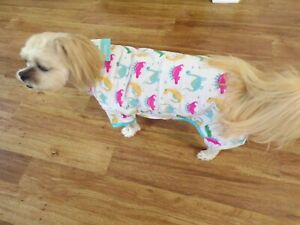 dog pajamas, dandy dinosaurs, Large for small breeds (read size details )