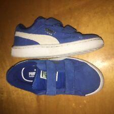 Puma Kids youth Kinder Fit blue Suede Shoes SZ/12 new no box