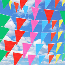 Triangle Flags Bunting Banner Pennant Festival Wedding Party Decor 80M
