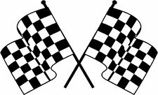 Checked Checkered Flag Flags Winning Sticker Decal Graphic Vinyl Label Black