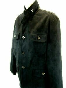 Mens G.A.E.mporio Soft Suede look Black Jacket Moda italy Collection.Sz Sm NWOT