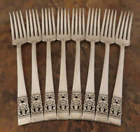 Oneida Coronation Set 8 Dinner Forks Community Vintage Silverplate Flatware E