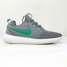 Nike Mens Roshe Two 844656-006 Gray Green Running Shoes Lace Up Low Top Size 8.5