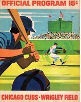 1971 (July 2) Baseball program Pittsburgh Pirates @ Chicago Cubs, unscored ~Fair
