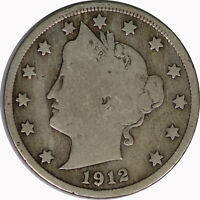 1912-D 5C Liberty V Nickel Raw Circulated US Coin