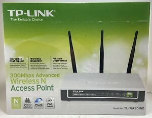 Wireless N 3T3R Access Point, 2.4Ghz 450Mbps, 802.11b/g/n, TL-WA901ND NEW SEALED