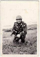 Esercito Italiano Fanteria Mimetica Elmetto 33 MAB 38/42 Foto Militare
