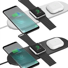 3 in 1 Wireless Charger Ladestation induktiv Qi Ladegerät kabellos Android iOS