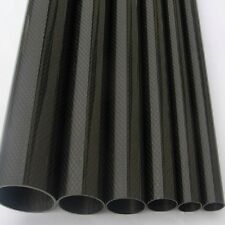 2pcs Roll Wrapped Carbon Fiber Tube 3K 12mm*14mm*500mm Hight Glossy ZY01-IN US