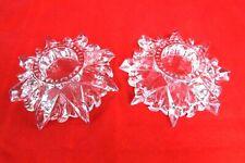 Vintage Starburst Crystal Votive Clear Star Shaped Tea Light Candle Holder Glass