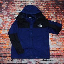 The North Face Mens Blue Black Gore Tex Hooded Jacket Anorak Windbreaker Small