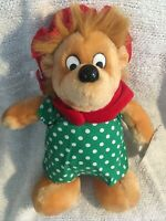Berenstain Bears Mama in Christmas Outfit Plush Stuffed Toy Applause Vintage 80s