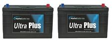 PAIR OF12V 643 HEAVY DUTY COMMERCIAL BATTERIES TRACTOR, LORRY, WAGON
