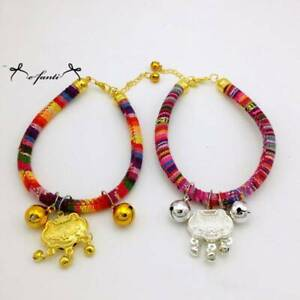 Puppy Pet Luckly Collar Cat Neck With Bell Adjustable Collar Safety Rope B