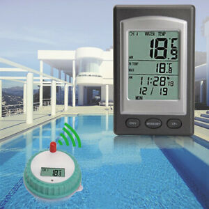 Wireless LCD Schwimmbad Thermometer Poolthermometer Funk Teichthermometer 【DE】