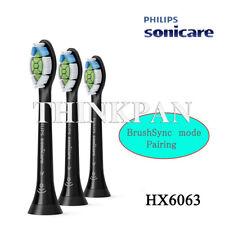 3pcs PHILIPS Sonicare BrushSync Standard toothbrush heads HX6063 Black w/o box
