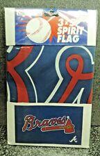 Emerson MLB Atlanta Braves Spirit Flag Baseball 3' x 5' Mint in Package