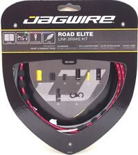 Jagwire Road Elite Link Ultra-Slick Brake Cable Kit Red + Free BC-R680 Cap x2