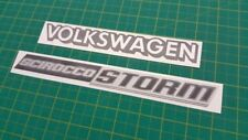 VW MK2 Scirocco tormenta Trasero Portón Trasero Calcomanías Pegatinas restauración de reemplazo