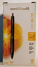uni-ball 307 Retractable Gel Pens Medium Point Black 12-Pack 1927258 07053000674