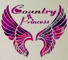 "Pink Camo Wings Country Princess Truck Decal 5"" Wild Love Girl Browning Muddy"