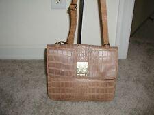 BIBA Taupe Skin  Leather Handbag With Shoulder Strap Vintage