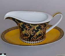 Versace Barocco Sauce Gravy Boat with Tray *NEW In Box*