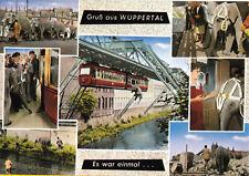 AK, Wuppertal, Schwebebahn, Tuffis Wuppersprung, sieben Abb., 1991