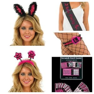 Hen Night Bride Party Accessories Ears, Boppers, Sash, Dare Cards, Garter