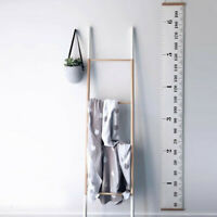 Height Growth Chart Hanging Measurement Ruler Kids Room Wall Wood Frame Decor