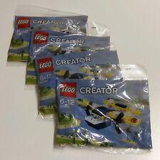 4x Lego Creator Yellow Flyer 30540 Polybag BNIP (yes 4!)