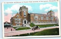 Gymnasium Entrance Franklin Field University of Pennsylvania Gym Postcard D11
