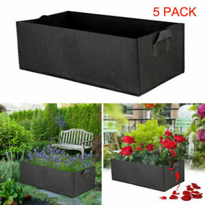 5Pcs Large Plant Grow Bag Outdoor Garden Reusable Vegetable Tomato Fabric Pot