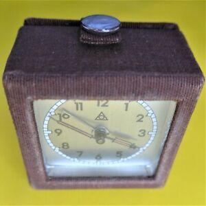 Original Travel Alarm Clock, Dugena, With Sheath, Good Function