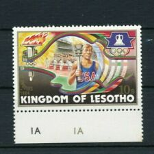 1 Stamps Lot S51 LESOTHO Olympic Games 1984 10s Los Angeles MNH VF RARE Tab Mark